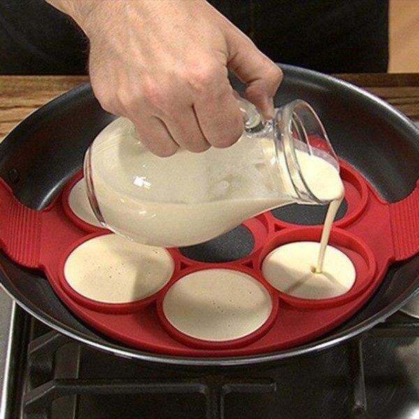Moule en Silicone pour 7 Blinis ou Pancakes