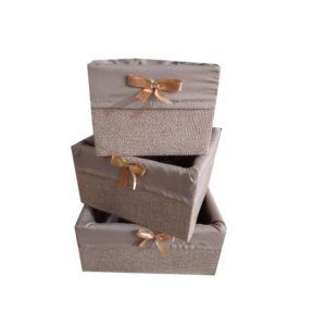 Lot 3 box de rangement en bois
