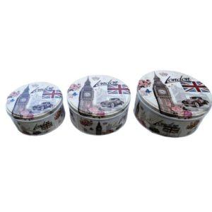 AB home 3 boites metaliques - Rond - London