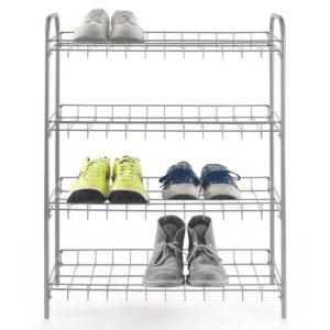 Metaltex Porte chaussures 4 niveaux - 64 x 23 x 80 cm - 93.80.02- Gris - Garantie 5 ans