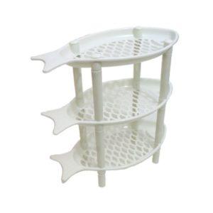 Étagères De Rangement 3 Couches Pliantes - Blanc - 38* 34 * 18 cm