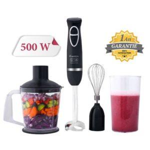 LEXICAL Mixeur Plongeant Multifonction - 500 W - Noir - Garantie 1 An
