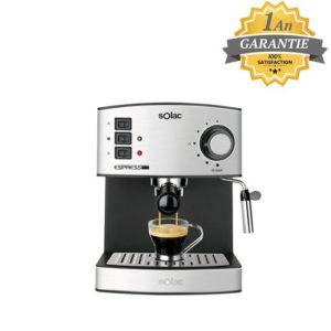 Solac Machine - Cafetière à Expresso et Cappuccino - CE 4480 - Garantie 1 An