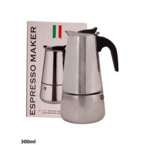 Espresso Cafetière italienne - Inox - 300 ml - Environ 6 tasses
