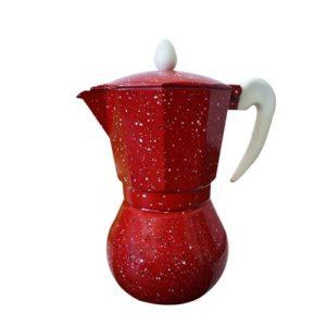 Cafetière 6 tasse - Café express - Rouge Mouchté