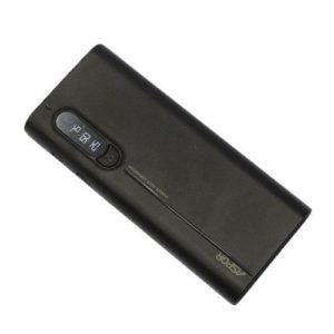 Aspor Power Bank - 10000 mAh - Afficheur numérique - Noir.