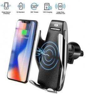 2en1 Support Chargeur - Sans fil - Pour voiture - Smart Sensor