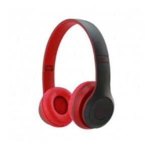 Casque Bluetooth 5.0 - jusqu'au 10m - Autonomie jusqu'a 6 heures - Rouge