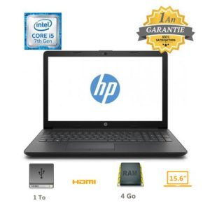 """Hp PC Portable - 15.6"""" - I5 - 7è Gén - 5CQ56EA - Noir"""