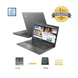 Lenovo Pc portable IP130 - I3 7È GÉN - 8 GO - Noir - Garantie 1an