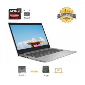 """Lenovo PC Portable - 14"""" - Slim - A6 - Disque 512G SSD - 4 GO"""