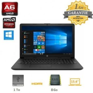 Hp Pc Portable HP15 - A6 - 8Go - 1To - Windows10 - Garantie 1an