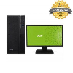 Acer PC de Bureau Veriton ES2730G i3 8è Gén 4 Go 1To Ecran 21.5.