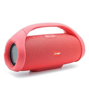 Speaker Bluetooth + Power bank - Boomsbox - Stéréo - Rouge