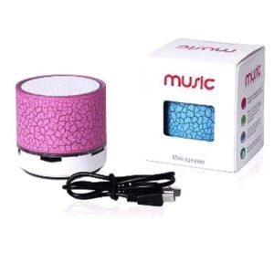 Speaker Mini LED Bluetooth Haut-parleurs - Sans fil-blanc