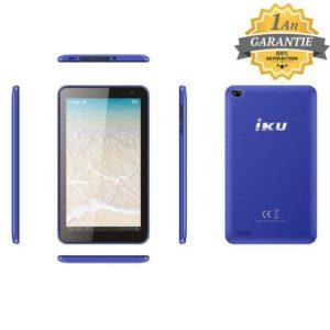 "Iku Tablette T4 - 7"" - 3G- 1GB - 16GB - Wifi - Bleu - Garantie 1 an"