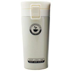 Thermos de café - Acier inoxydable - Blanc