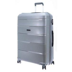 Davidt's valise polypropyléne incasable - Gris - taille M - garantie 5 ans
