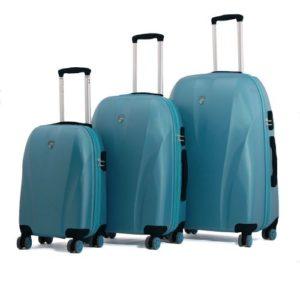 Generic Set de Trois Valises - Beverly Hills Cm - Turquoise