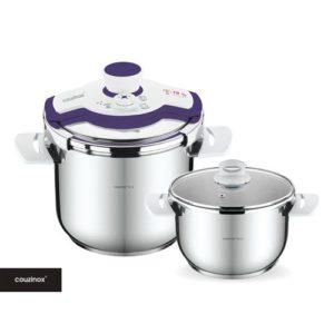 Couzinox Cocotte-Autocuiseur 4+7L -Coloris- violet - Inox 18-10
