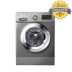 LG Machine à laver Automatique - 9KG 1400T - Cycle Vapeur - DD 6M - SILVER