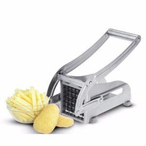 Broyeur de pommes de terre - acier inoxydable - coupe-légumes et frites