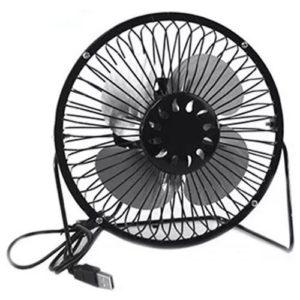 BB-819 Mini ventilateur de bureau USB en métal