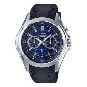 Casio Montre Hommes - MTP-E204-2AVDF - Bleu - Garantie 1 An
