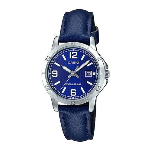 Casio Montre Femmes - LTP-V004L-2BUDF - Bleu - Garantie 1 An