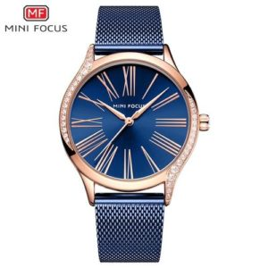 Mini Focus Montre Femme - MF0259L.04 - Garantie 1 An - Bleu et Rose Gold