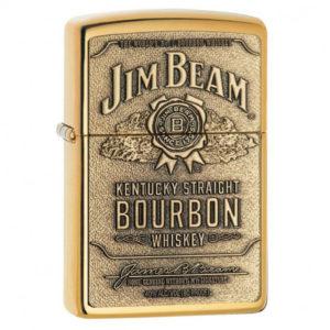 Briquet ZIPPO Jim Beam Brass - Gold (041689169299)