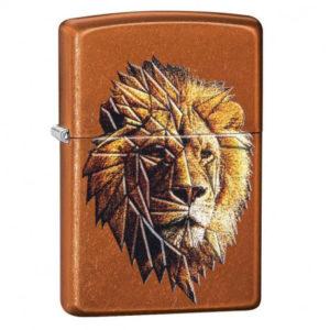 Briquet ZIPPO Polygonal Lion Design - Marron