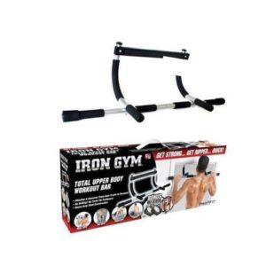 Iron Gym Barre fixe démontable - Gris