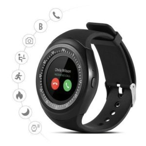 Zxega Smart Watch Y1 - Bluetooth - Carte sim - Noir